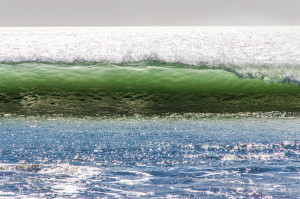 38 Green Wave Blue Water