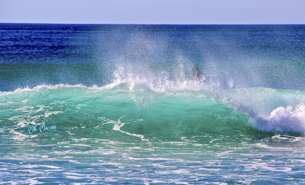 30 Windy Clear Wave & Surfer